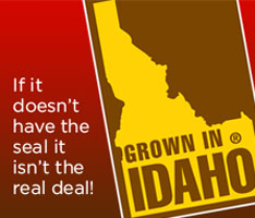 Grown in Idaho seal promotion by the Idaho Potato Council