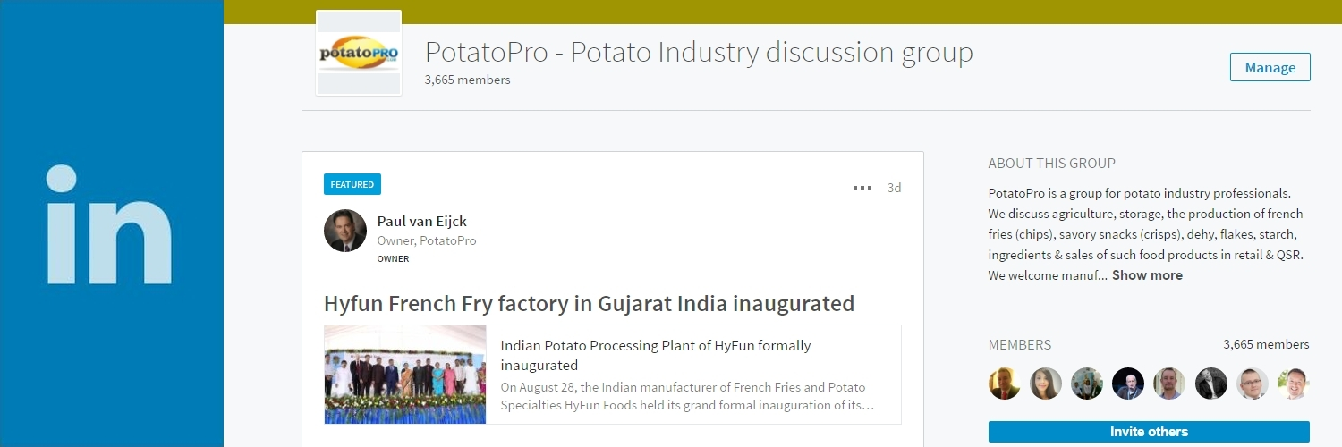 Connect with us PotatoPro on LinkedIn!