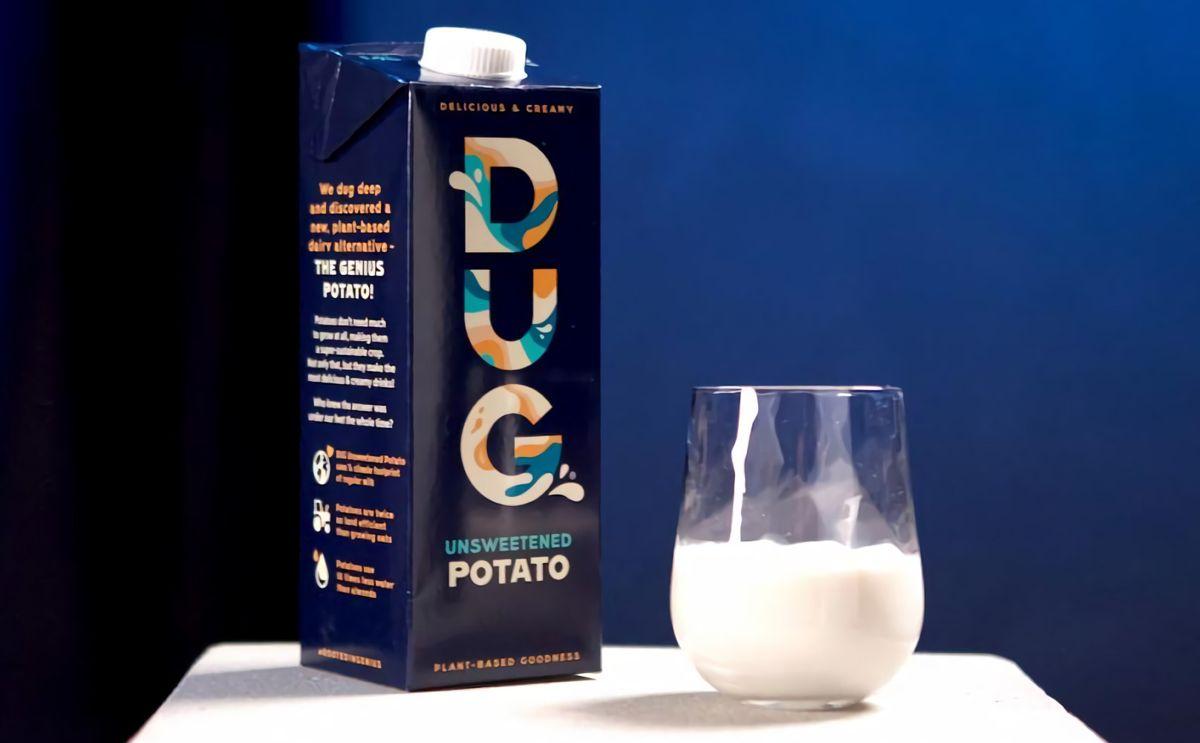 Dug potato milk