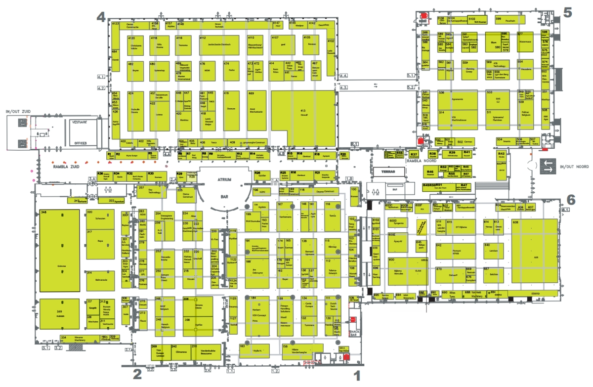 Interpom primeurs trade show for potato and vegetable for Trade show floor plan