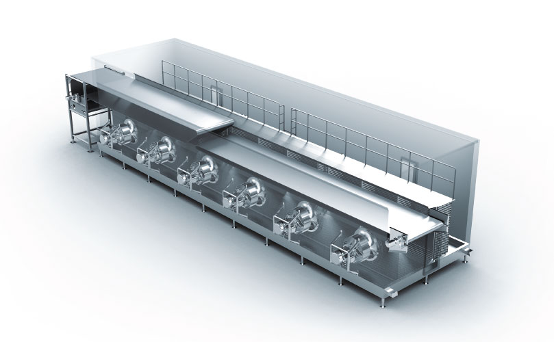 FPS Individual Quick Freeze Tunnel Freezer, IQF Tunnel Freezer