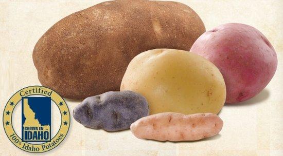 Idaho Potato Commission shows 25 potato varieties and their characteristics