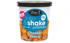 Tasteful Selections adds a cheesy new flavor to the Take & Shake line of flavored potatoes
