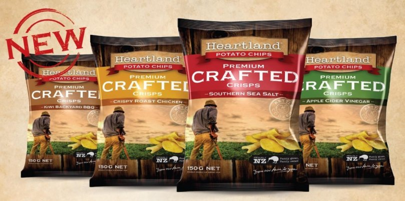 Heartland Potato Chips (NZ) expands range with Premium Crafted Crisps