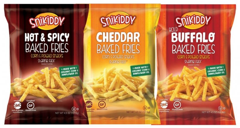 Snikiddy Relaunches Baked Fries Snack. With lots of Organic Ingredients, but no organic potato...